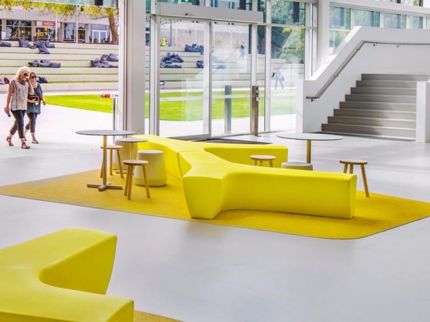 Modular polyethylene garden bench TWIG   Polyethylene bench by Derlot Editions