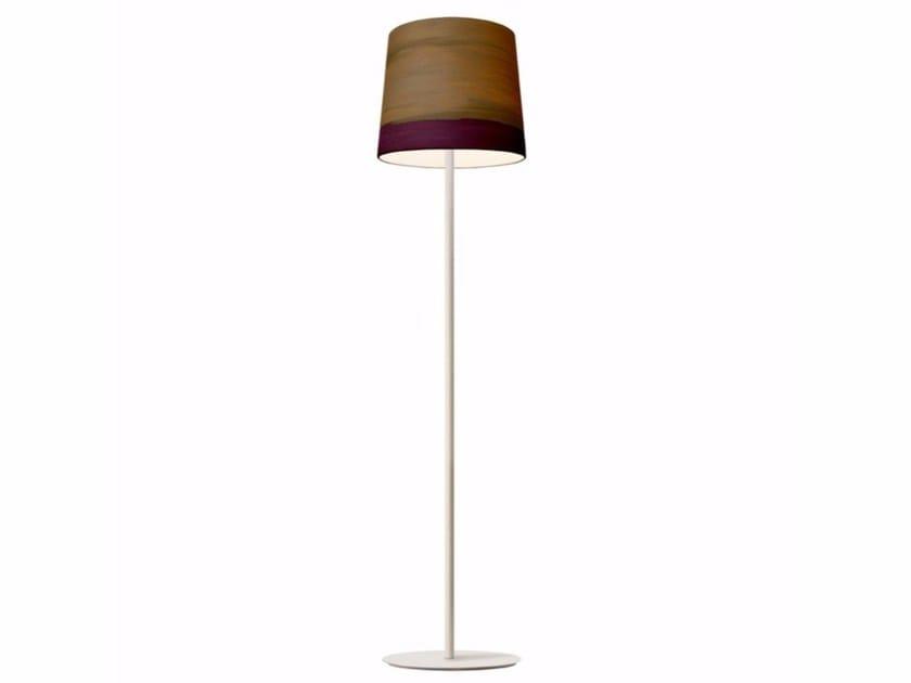 Handmade fabric floor lamp TWILIGHT | Floor lamp by Mammalampa