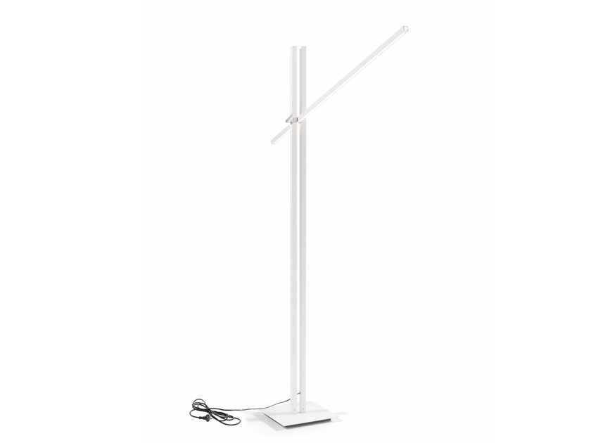 stainless floor lamp twilight by manutti