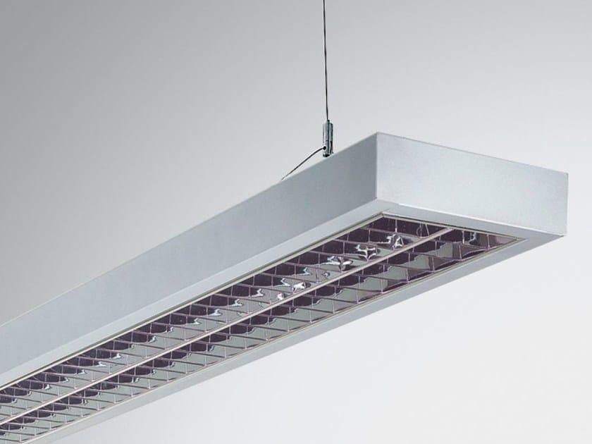 Direct-indirect light pendant lamp TWIN 2 9850 PAR99 D-I LED by Metalmek