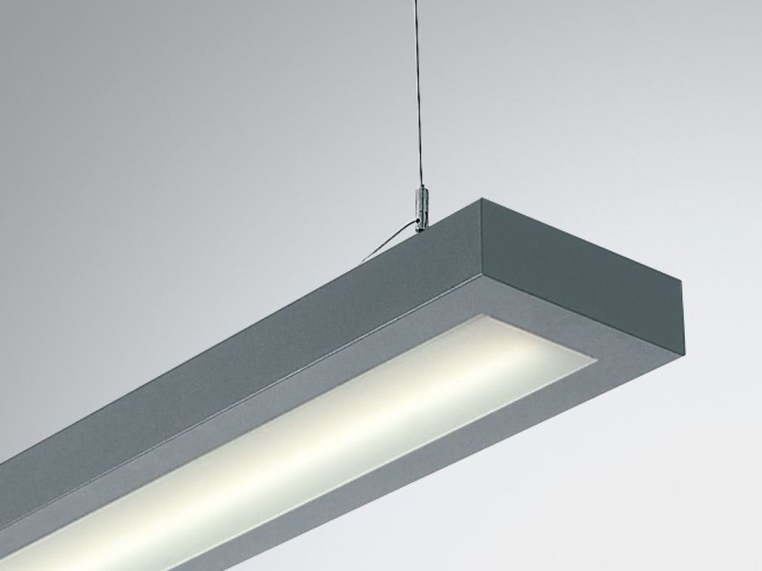 LED direct light aluminium pendant lamp TWIN 2 9861 PO LED by Metalmek