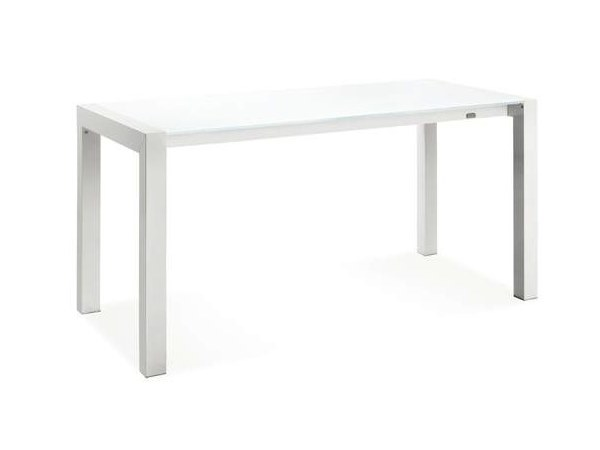 Extending rectangular glass table TWIN by CREO Kitchens