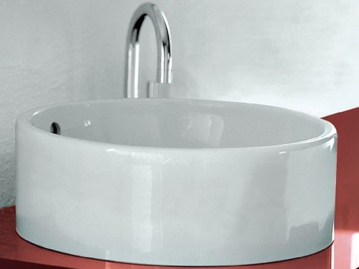 Lavabo da appoggio rotondo in ceramica TWIN | Lavabo da appoggio by CERAMICA FLAMINIA