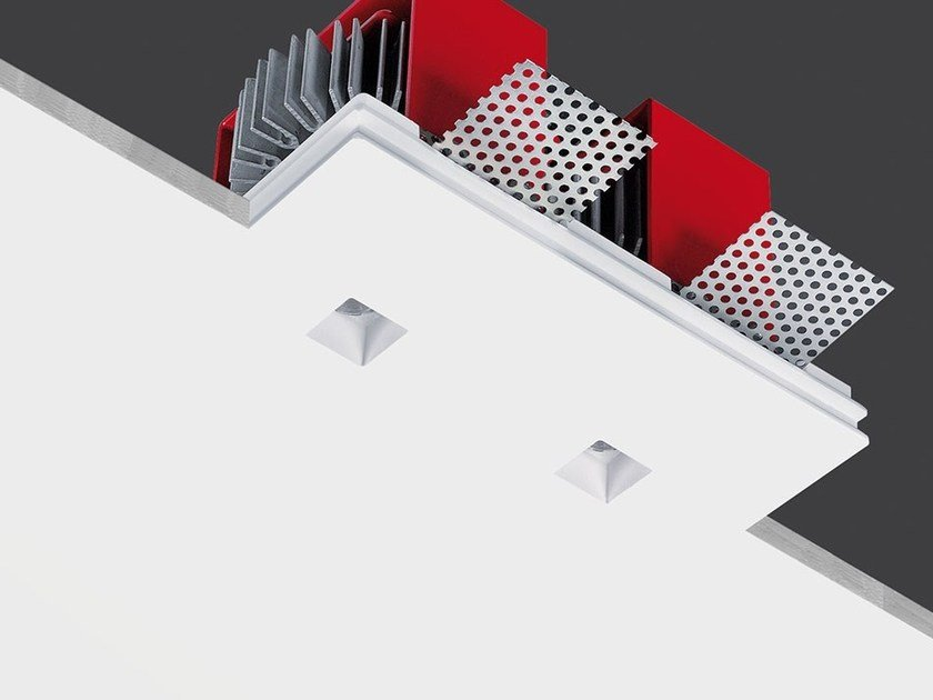 Contemporary style LED ceiling recessed AirCoral® spotlight TWIN GENIUSQUARE by Buzzi & Buzzi