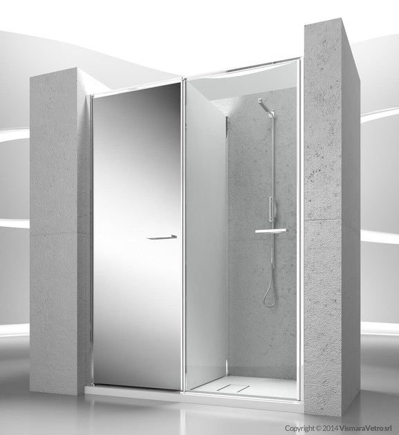 Niche shower cabin with storage container TWIN T31 by VISMARAVETRO