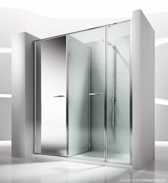 Niche shower cabin with storage container TWIN T41 by VISMARAVETRO