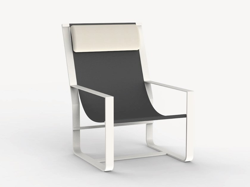 Aluminium garden chair with armrests TWINS by Ciela Mare