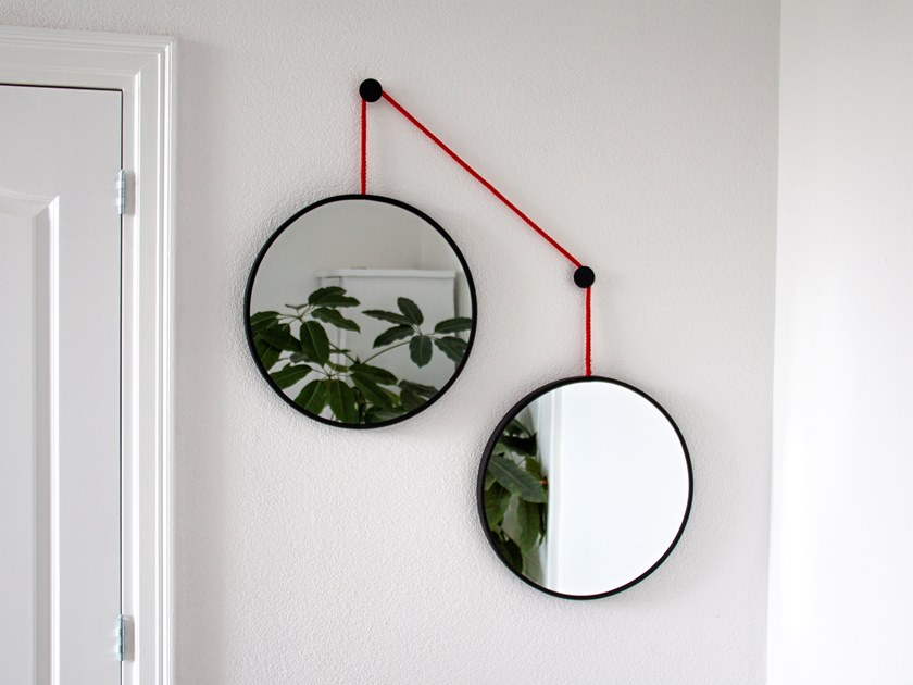 Round wall-mounted mirror TWINS by JOKJOR