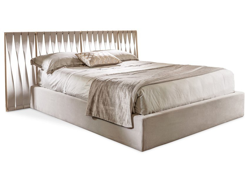 Leather bed double bed TWIST | Bed by Cantori