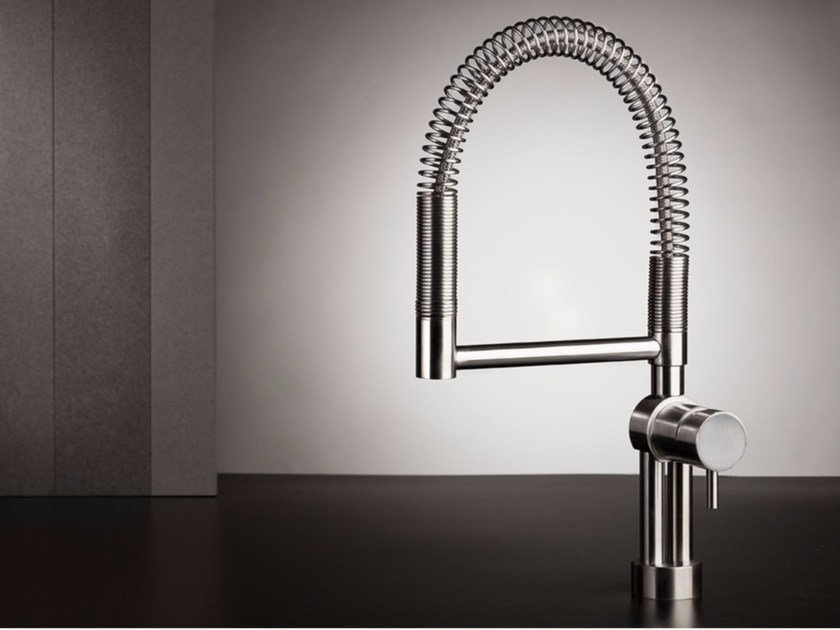 1 hole kitchen mixer tap with pull out spray TWIST 9700 by MINA
