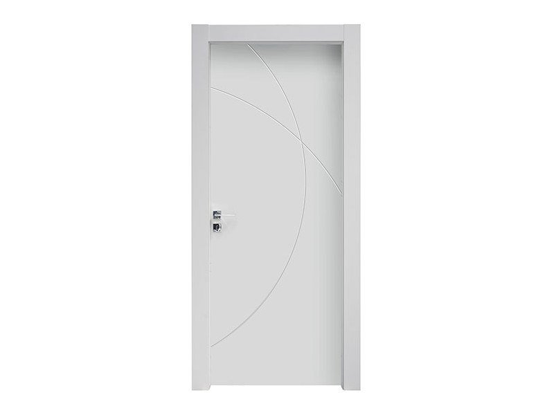 Hinged lacquered wooden door TWIST by NUSCO