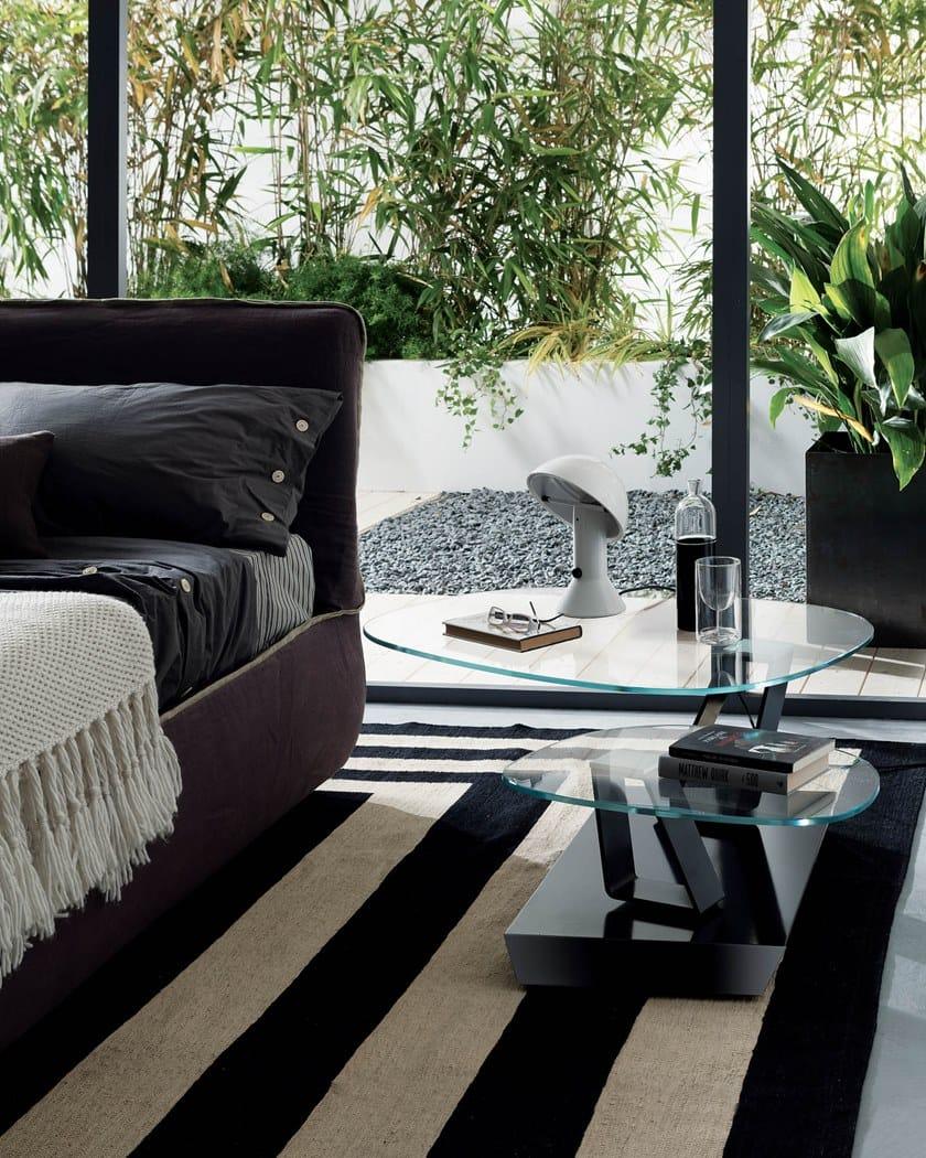 TWIST SASSO | Crystal coffee table By Ozzio Italia design Marco Pozzoli