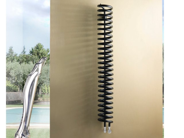Wall-mounted steel decorative radiator TWISTER by Hotwave