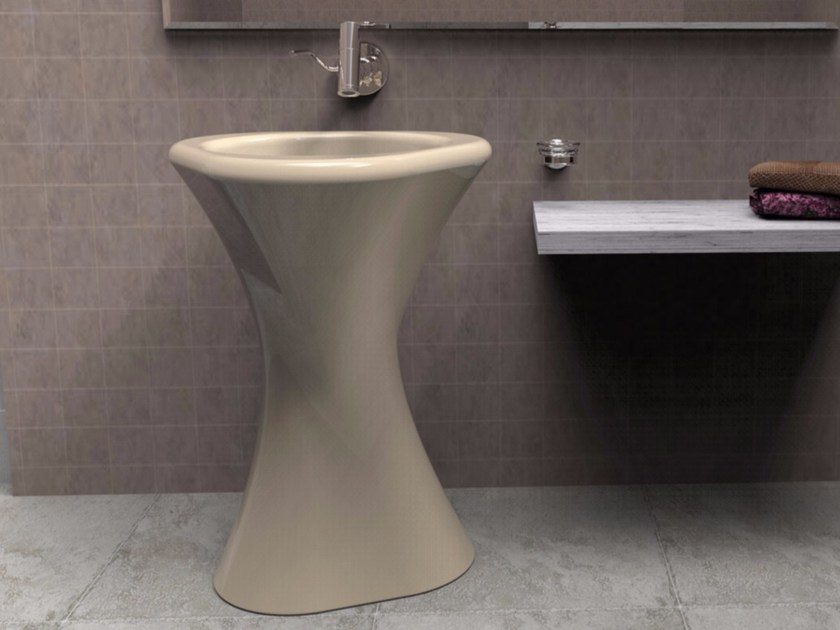 Freestanding Adamantx® washbasin TWISTER by ZAD ITALY