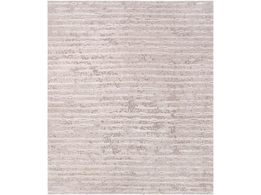 Handmade rectangular rug TWO BEIGE by Tapis Rouge