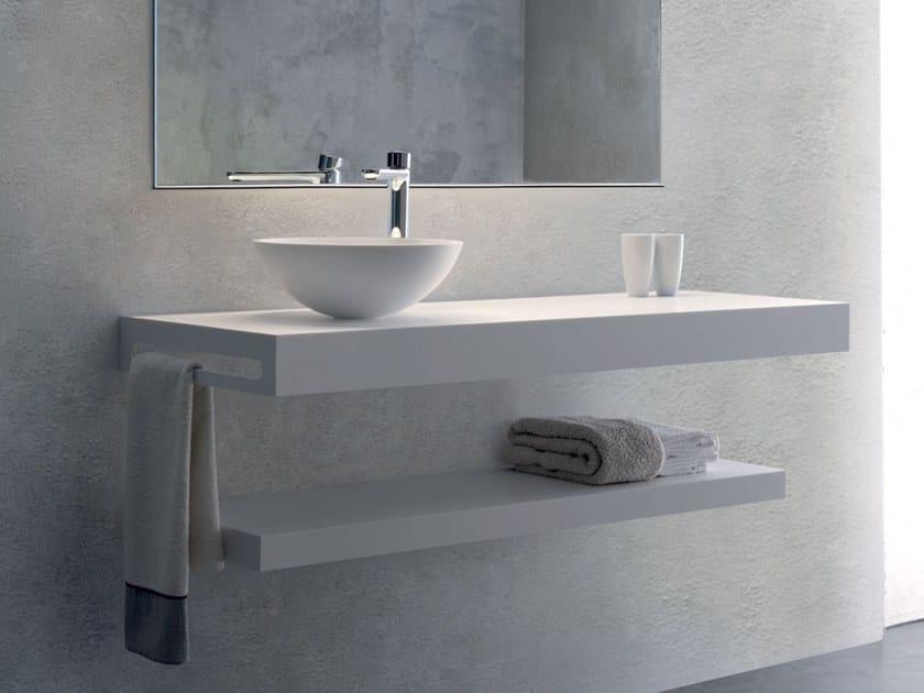 Solid Surface washbasin countertop TYE by Blu Bleu