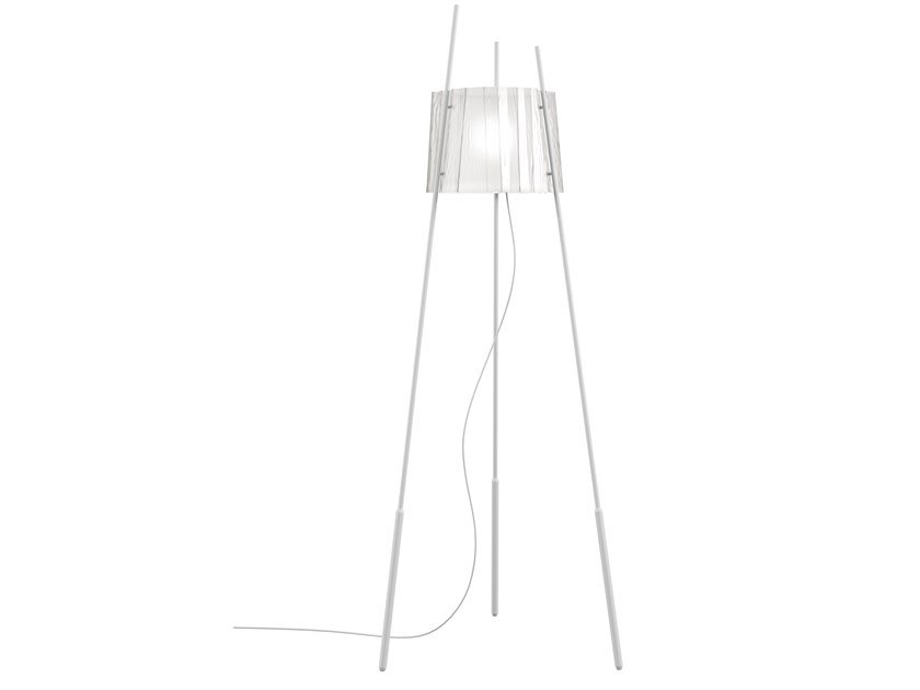 Indirect light glass floor lamp with dimmer TYLA by KUNDALINI
