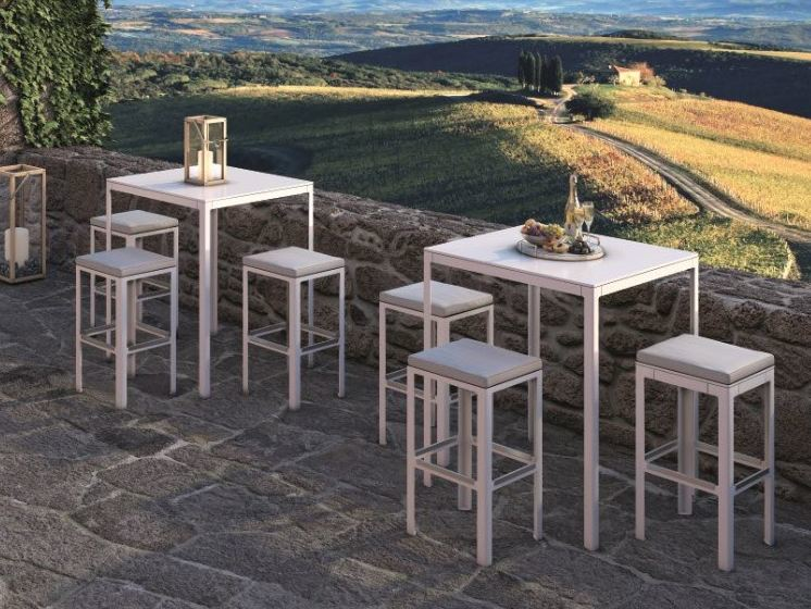 Square galvanized steel high table TYPE | High table by iCarraro