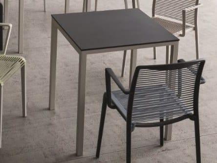 Alluminio Verniciato Icarraro In For Type OutTavolo Quadrato A Polvere wNynvm80O