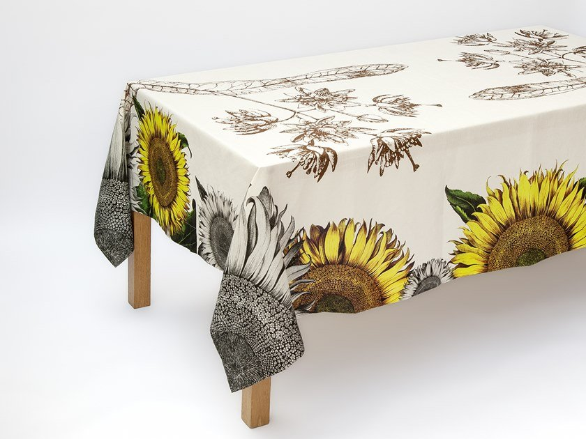 Linen tablecloth HELIANTHUS | Tablecloth by The NapKing