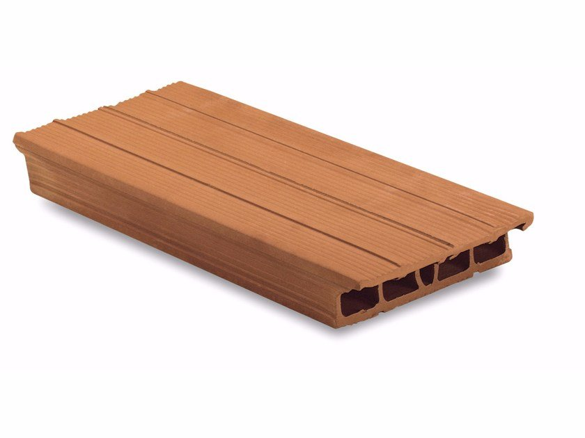 Clay plank and hollow clay plank Tavelloni 6x40 taglio obliquo a gradino by Wienerberger