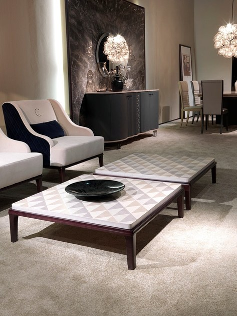 Square coffee table for living room SQUARE | Coffee table by Carpanelli Contemporary