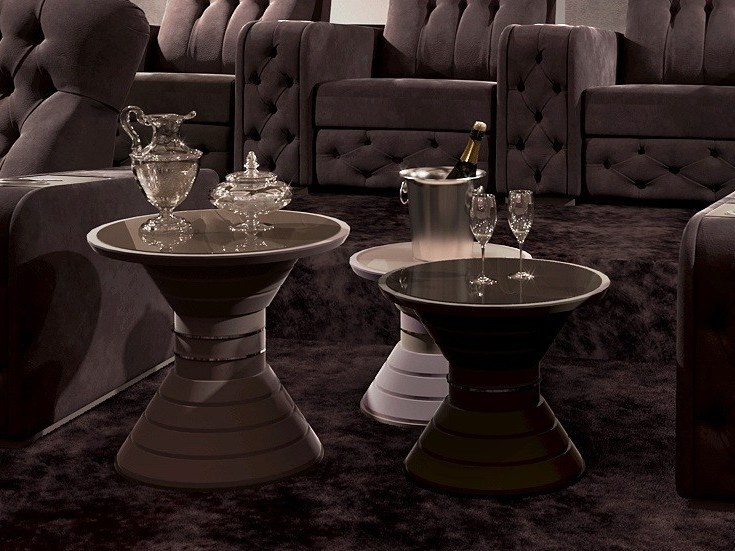 Round coffee table for living room Tavolino d'appoggio by Vismara Design