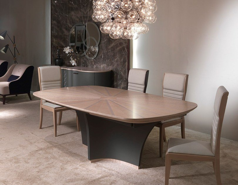 Oval wooden table DESYO SYCOMORO | Table by Carpanelli Contemporary