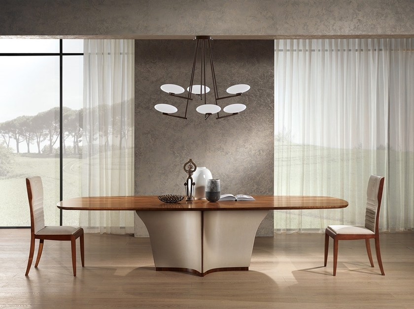 Oval wooden table DESYO | Wooden table by Carpanelli Contemporary