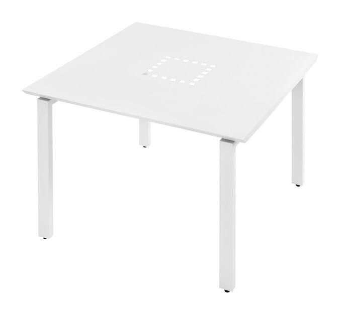 Square aluminium garden table Tavolo quadrato Loto by Mediterraneo by GPB