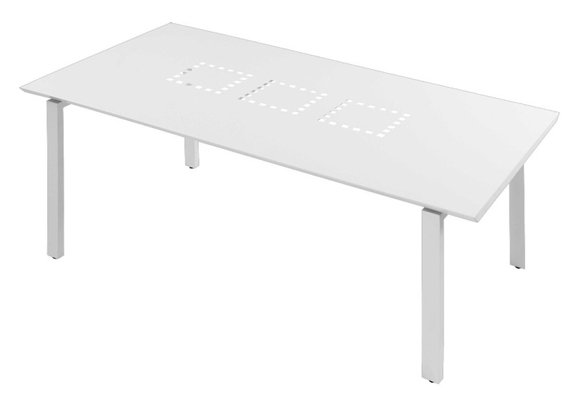 Rectangular aluminium garden table Tavolo rettangolare Loto by Mediterraneo by GPB