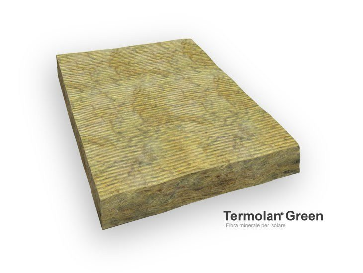 Mineral fibre Thermal insulation panel Termolan® Green by TERMOLAN