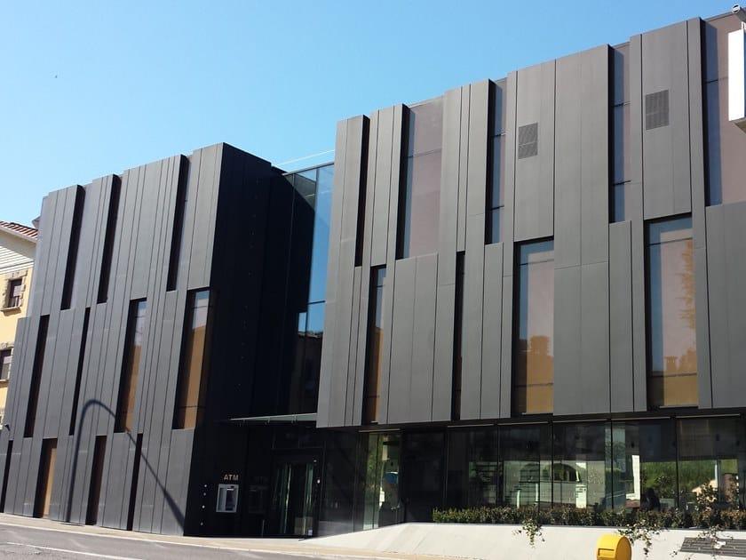 Titanium-Zinc Panel for facade Titanium-Zinc Panel for facade by Cantori Alluminio