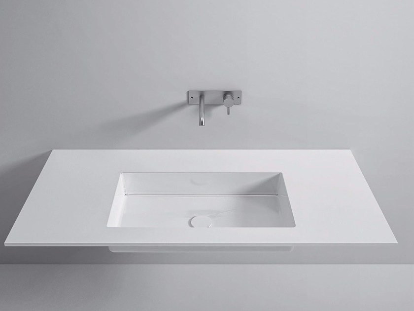 Washbasin with integrated Gelcoat countertop Top Gelcoat by Rexa Design