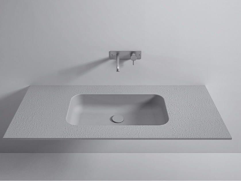 Korakril™ Stone top with integrated washbasin Top Korakril™ Stone by Rexa Design