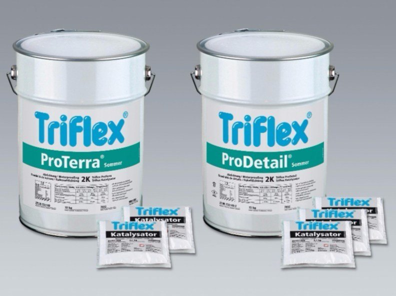 Additive and resin for waterproofing Triflex ProTerra by Triflex Italia