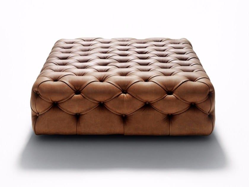 Tufted leather pouf Tufted pouf by DE PADOVA