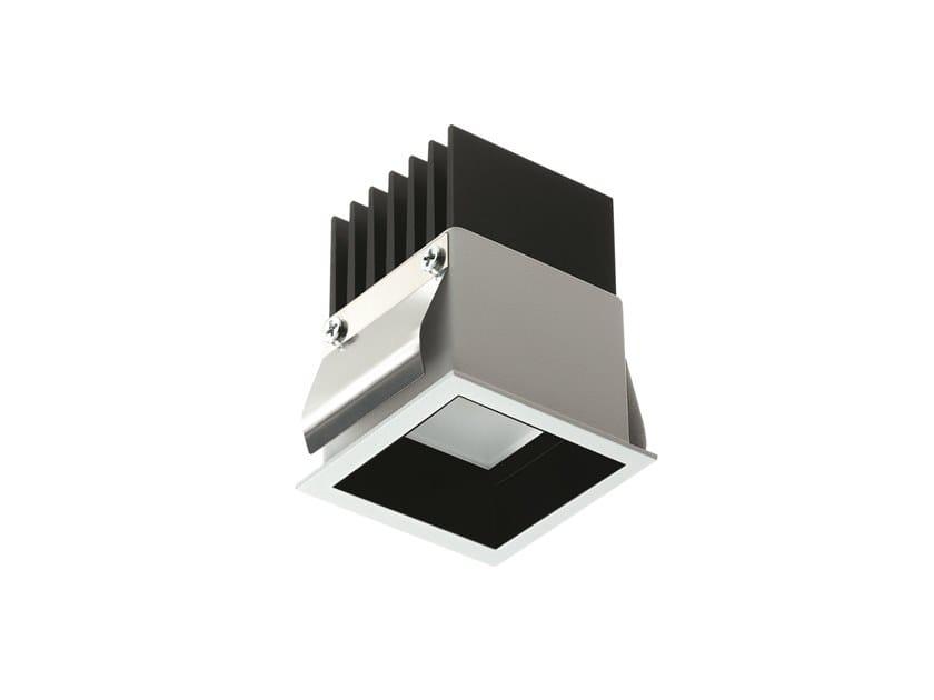 LED square recessed aluminium spotlight Turis 1.2 by L&L Luce&Light