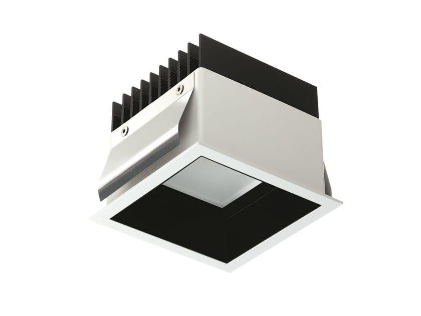 LED square recessed aluminium spotlight Turis 3.2 by L&L Luce&Light