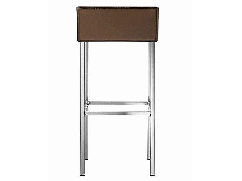 High upholstered stool with footrest Twin 368 by Metalmobil