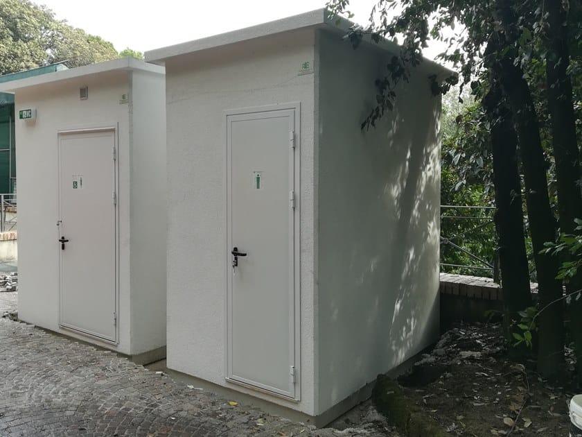 2 functions cement Prefabricated toilet U-02(01) | Prefabricated toilet by Emmecinque Monoblocchi