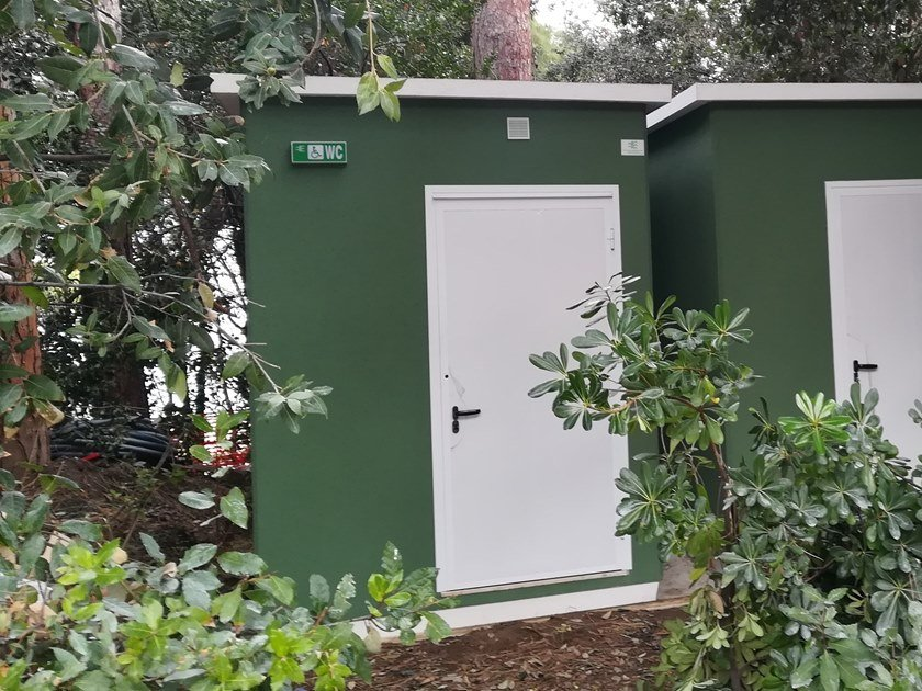 2 functions cement Prefabricated toilet for Disabled U-04(01) | Prefabricated toilet by Emmecinque Monoblocchi