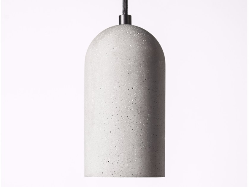 LED concrete pendant lamp U by Bentu Design