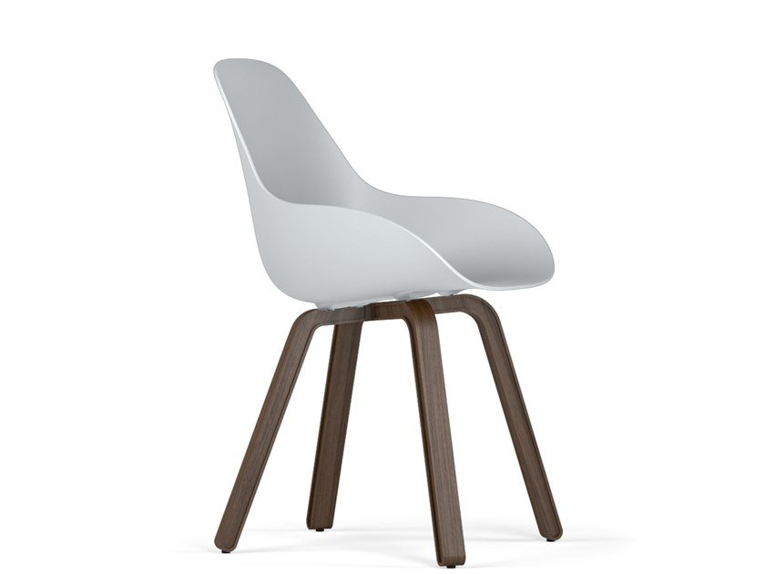 Polypropylene chair U DIMPLE CLOSED by KUBIKOFF