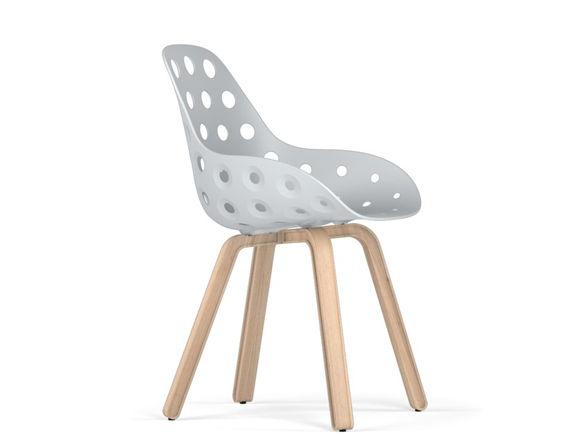Polypropylene chair U DIMPLE by KUBIKOFF