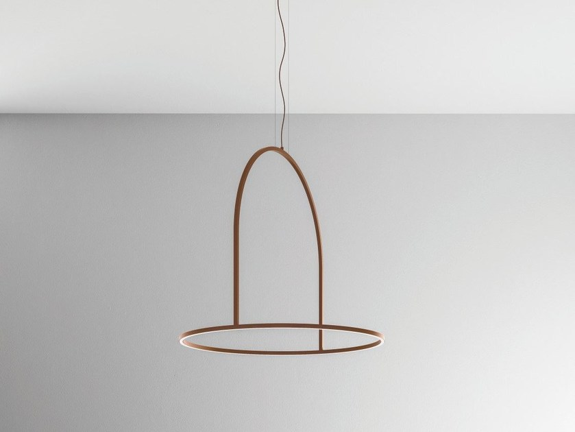 Lampada a sospensione a LED in metallo U-LIGHT 120 by AXOLIGHT