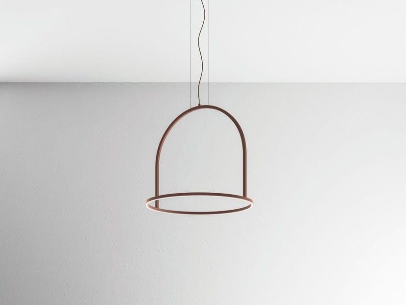 LED metal pendant lamp U-LIGHT 90 by AXOLIGHT