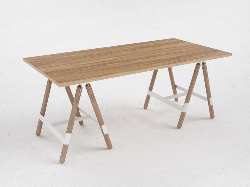 Wood veneer table U5 by ODESD2