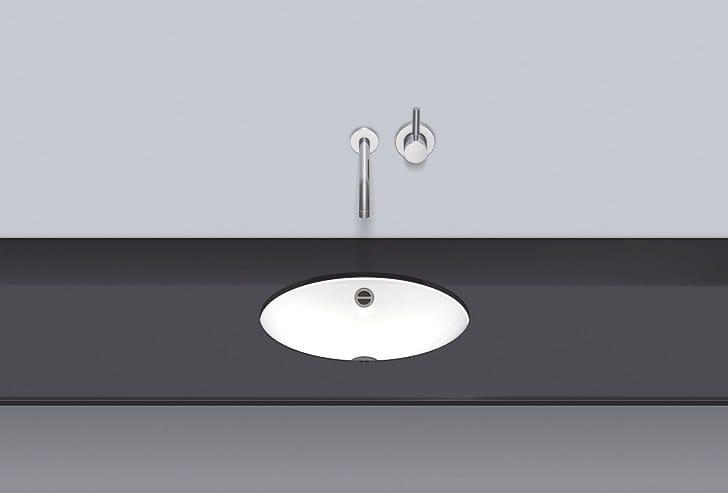 Undermount basin from glazed steel UB.O425 by Alape