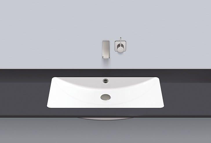 Undermount basin from glazed steel UB.R800 by Alape
